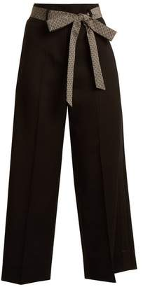 Racil - Nitta Wide Leg Wool Trousers - Womens - Black