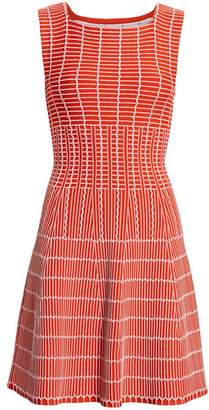 Alaia Pagode Pintuck A-Line Dress