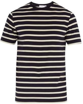 Sunspel Striped Crew Neck T Shirt - Mens - Navy Multi