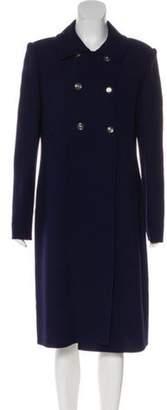 Bill Blass Notch-Lapel Long Coat Notch-Lapel Long Coat