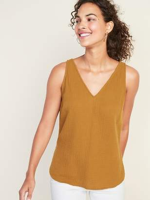 Old Navy Textured-Weave V-Neck Sleeveless Top For Women
