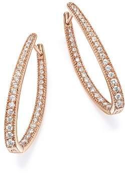 Bloomingdale's Diamond Inside Out Oval Hoop Earrings in 14K Rose Gold, 1.0 ct. t.w. - 100% Exclusive
