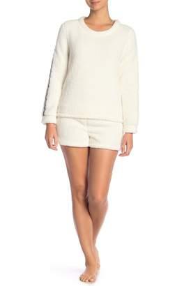 Couture PJ Sporty Faux Shearling Short Set