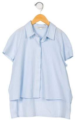 Jonathan Simkhai Girls' Striped Button-Up Top