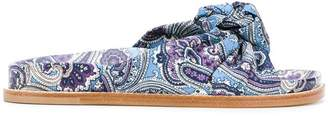 Etro knotted paisley slides
