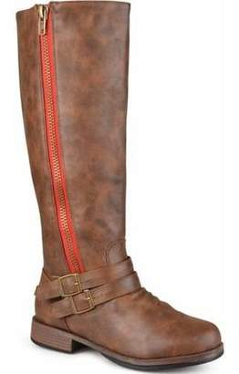 Brinley Co. Women's Extra Wide-Calf Knee High Side-Zipper Riding Boots