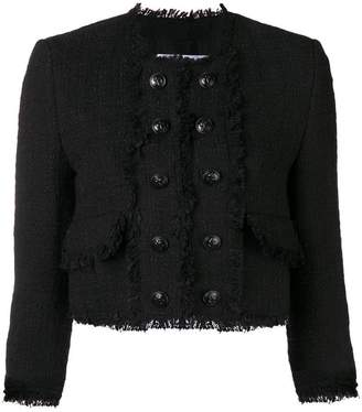 MSGM button tweed jacket