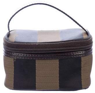 Fendi Leather-Trimmed Pequin Mini Bag
