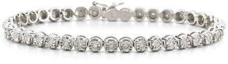 JCPenney FINE JEWELRY 1/2 CT. T.W. Diamond Sterling Silver Bracelet