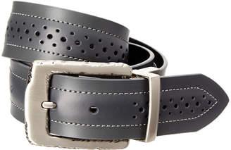 Robert Graham Slate Leather Reversible Belt