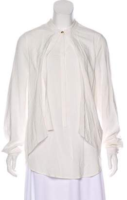Marchesa Voyage Casual Button-Up Top