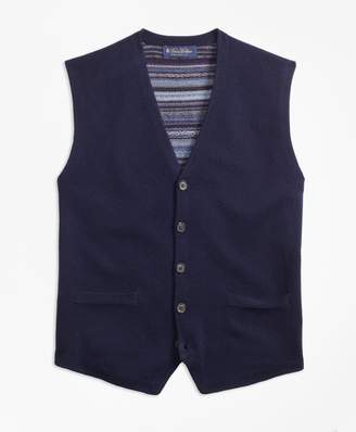 Brooks Brothers Merino Wool Fair Isle Waistcoat