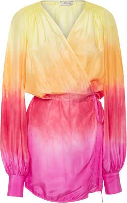 ATTICO Degrade Wrap Silk Dress