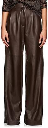 Nili Lotan Women's Nico Leather Wide-Leg Pants