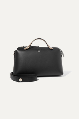 b69a7c6962a5 Fendi By The Way Small Color-block Textured-leather Shoulder Bag - Black