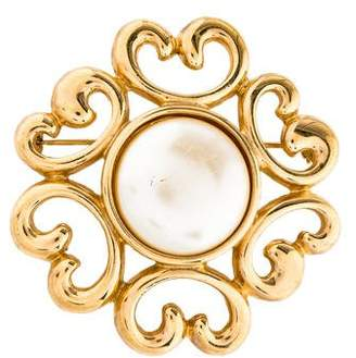 Givenchy Faux Pearl Brooch