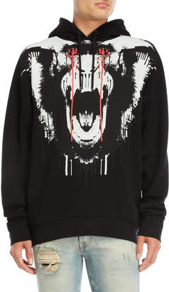 Marcelo Burlon County of Milan Black Graphic Fleece Hoodie