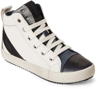 1fa88904cb0a Geox Kids Boys) White   Navy Alonisso High-Top Sneakers