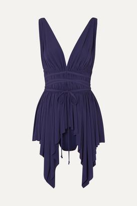 Norma Kamali Goddess Swim Dress - Midnight blue