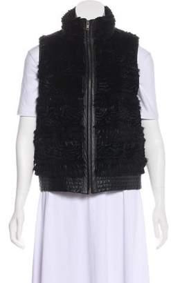 Trilogy Leather-Trimmed Fur Vest