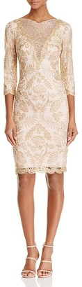 Tadashi Shoji Illusion Lace Cocktail Dress $408 thestylecure.com