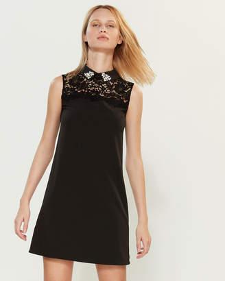 Blugirl Lace Yoke Shift Dress