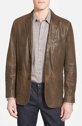 Men's Missani Le Collezioni Trim Fit Lambskin Leather Sport Coat $549 thestylecure.com