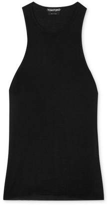 Tom Ford Cashmere And Silk-blend Tank - Black