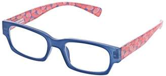South Beach Peepers Women's Blue/Pink 2424300 Rectangular Reading Glasses