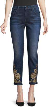 7 For All Mankind Rose Studded Skinny Jeans
