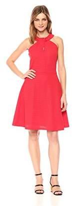Armani Exchange A|X Women's Cross Collar A-Line Party Dress