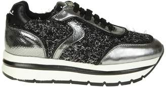 Voile Blanche may Sneakers In Laminated Leather And Wool Lurex Effect