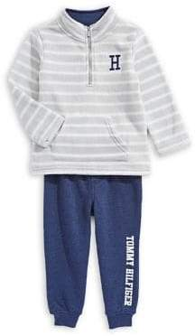 Tommy Hilfiger Baby Boy's Two-Piece Striped Top Jogger Pants Set