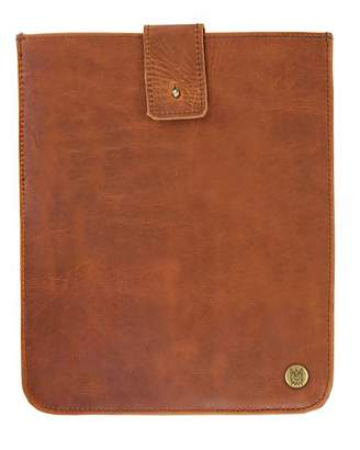 Mahi Leather Leather Stockholm Ipad Case Sleeve In Vintage Brown With Brown Stitching