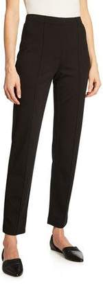 St. John Ponte Cropped Pull-On Pants, Black