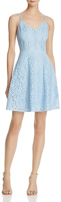 AQUA Lace Ric Rac V-Neck Dress - 100% Exclusive $78 thestylecure.com