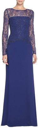Shaded Floral Lace Gown $2,295 thestylecure.com