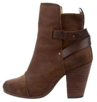 Rag & Bone Suede Pointed-Toe Ankle Boots