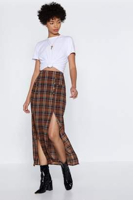 Nasty Gal Do the Splits Maxi Skirt