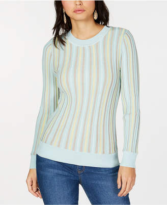 INC International Concepts I.N.C. Vertical-Stripe Pullover Sweater, Created for Macy's