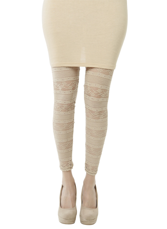 Arden B Pieced Lace Ankle Legging