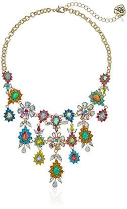 Betsey Johnson GBG)) Paradise Lost Women's Colorful Stone Flower Statement Necklace