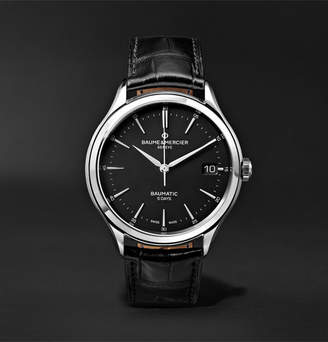 Baume & Mercier Clifton Baumatic Automatic 40mm Stainless Steel And Alligator Watch