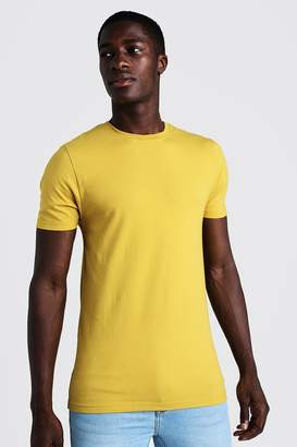 boohoo Muscle Fit Crew Neck T Shirt