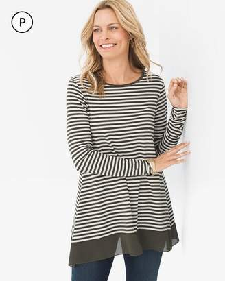 Petite Long-Sleeve Striped Tunic