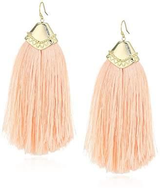 Panacea Women's Fringe Gold Cap Drop Earrings