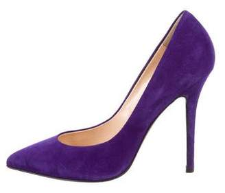 Giuseppe Zanotti Suede Pointed-Toe Pumps