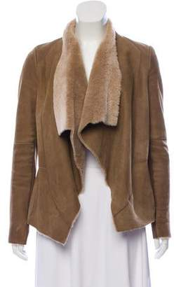 Vince Shearling Asymmetric Jacket