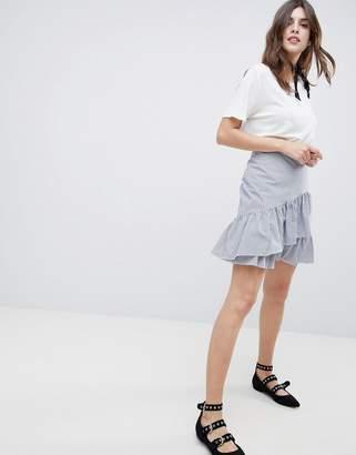 Esprit Stripe And Flippy Skirt