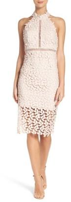 Women's Bardot 'Gemma' Halter Lace Sheath Dress $119 thestylecure.com